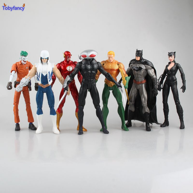 Tobyfancy The Avengers Action Figure The Flash Catwoman Batman Avengers Collection Model Toy For Gifts 7pcs/set фигурка planet of the apes action figure classic gorilla soldier 2 pack 18 см