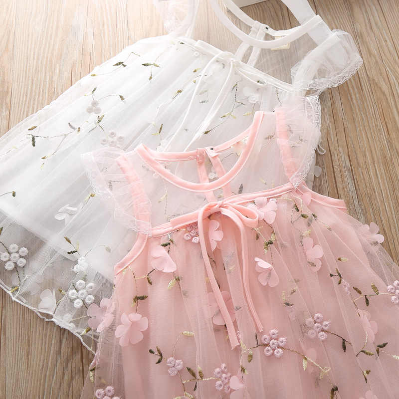 Newborn Dresses for Girl Summer Christening Party Wedding White Dress Baby Girls Lace Vestido Infantil 1 2 Year Princess Clothes