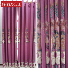 Elegant Embroidered Luxury Europe Blackout Curtains For living Room Bedroom Window Shading Drapes Decoration