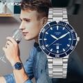 SINOBI Sports Mens Multifunction Stainless Steel Watches Waterproof Orisales Quartz Watches Brand Swiss Craft relogio masculino