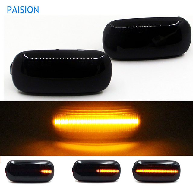 2Pcs Led Dynamic Side Marker Turn Signal Light Sequential Blinker Lamp For Audi A3 8P A4 B6 B7 A8 A6 S6 C5 C6 4f Pre facelift