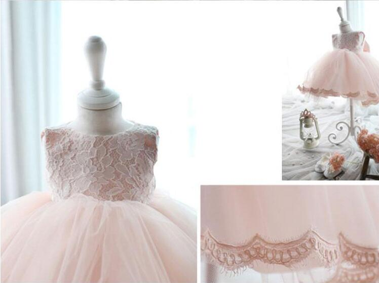 2017 A-Line Flower Girls Dresses For Wedding Lace Party Dress Sleeveless Kids Dress Pink Mother Daughter Dresses pink gorgeous lace see through sleeveless mini dress