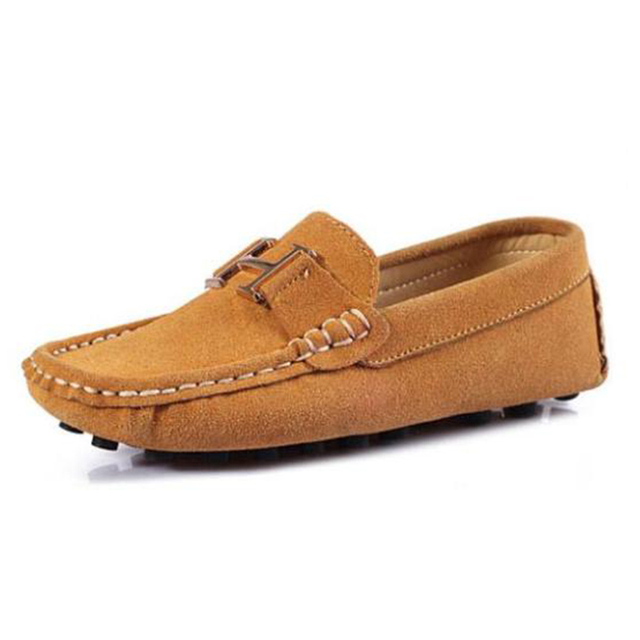8 Colors  size25-35   spring children shoes genuine leather child Moccasins male female r single shoes casual shoes
