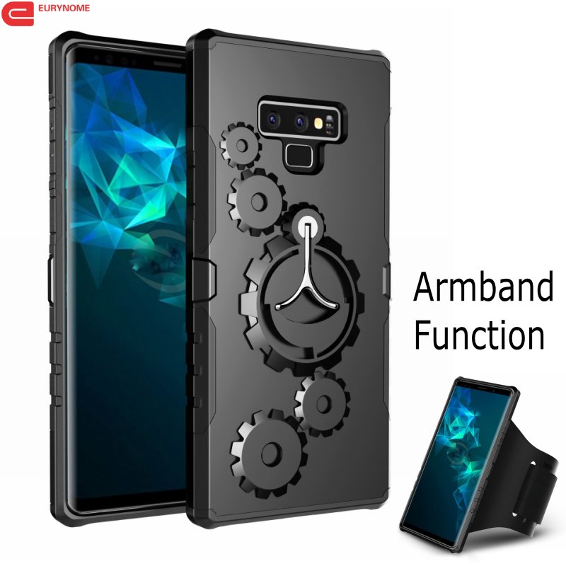 Case for Samsung Galaxy Note 9 S9 Plus Case Shockproof Kickstand Cover for Samsung Galaxy Note 9 S8 Plus Case With Arm band