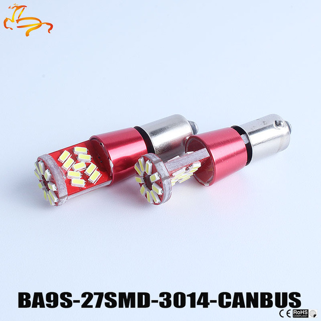 10 BA9S 3014 27 SMD Wit Canbus Lampen Foutloos t4w h6w LED Lampen ...