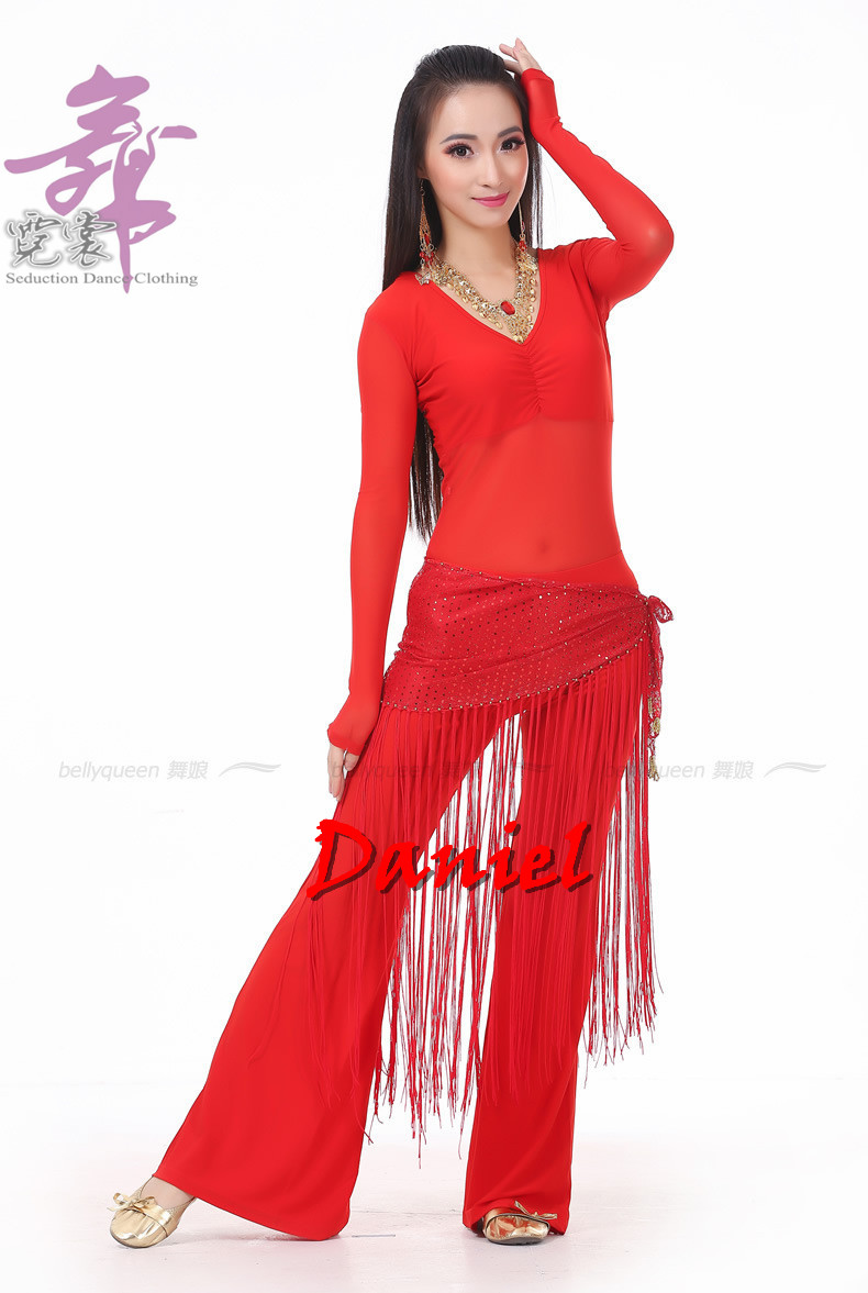 Belly dance costume 3 piece top waist towel pants belly for Dress shirts for big bellies