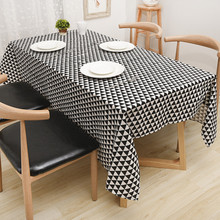 Modern Simple Geometric Triangle Cotton Linen Tablecloth Cover For Party  Home Table Cloth Textile Decoration 6 Sizes Free Ship