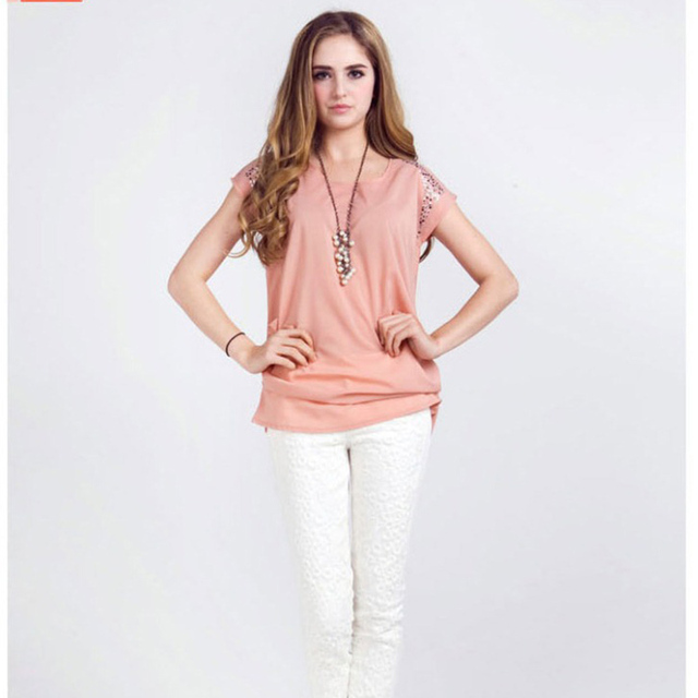 64d545c230cd Blusas de camisa para mujer 2019 Blusa Sexy talla grande Tops sueltos satén  verde verano Casual cuello redondo sólido más vendido social