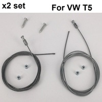 x2 Set For VW T5 Caravelle Multivan electric sliding door repair Steel wire Left&right Onwards 2003