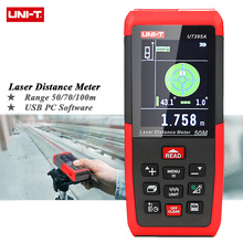 UNIT UT395A Laser Distance Meters 50m 70m 100m Rangefinder Best Accuracy 2mm USB PC Software Data Calculate Continuous Measure(China (Mainland))