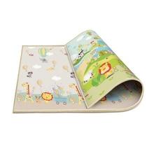 1 см Толщина ковер для детей игровой коврик поролоновые коврики-пазлы для маленьких детей, малышей ползать коврик для игр детское одеяло 200*180 см