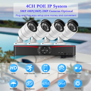 Image 2 - Gadinan 4CH 5.0MP Poe Nvr Kit H.265 Cctv Security System 5MP 3MP Waterdichte Audio Mic Ip Camera Outdoor Video Surveillance set