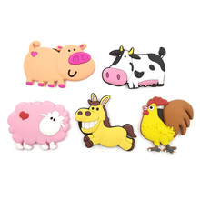 Cute Cartoon Chinese Zodiac animal silicone fridge magnet souvenir fridge refrigerators magnetic Kids  home decor decoration toy