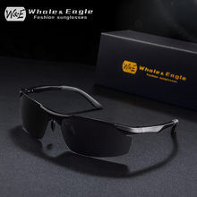 W&E Semi-Rimless Polarized Sunglasses Men And Women Aluminum Frame Travel Driving UV400 Lens Sports Goggles Fashion