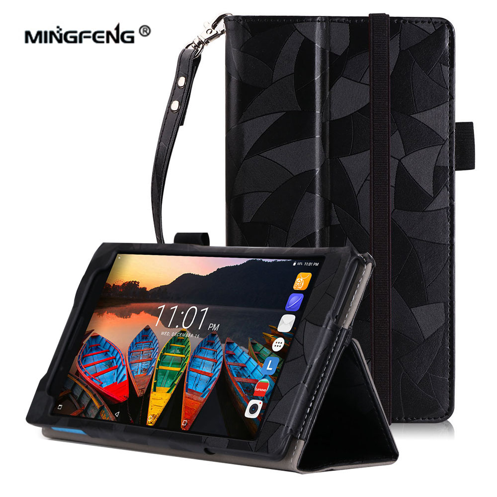 Case for Lenovo Tab 7 Essential Maple leaves Grain PU Leather Cover for Lenovo Tab 7 TB-7304F TB-7304I TB-7304X Tablet Case+Gift ultra thin smart flip pu leather cover for lenovo tab 2 a10 30 70f x30f x30m 10 1 tablet case screen protector stylus pen