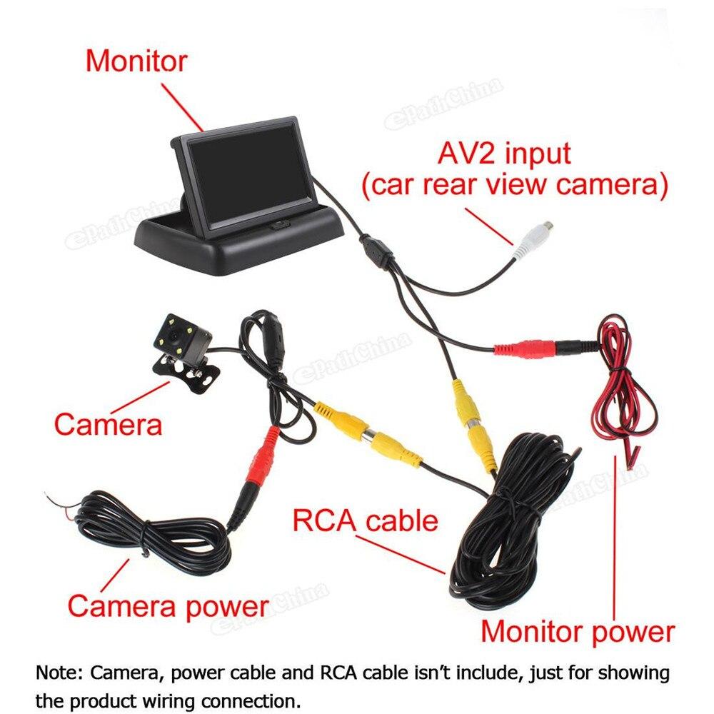 4,3 inch HD 480H x 272V resolutie 2-kanaals video-ingang TFT-LCD - Auto-elektronica - Foto 6