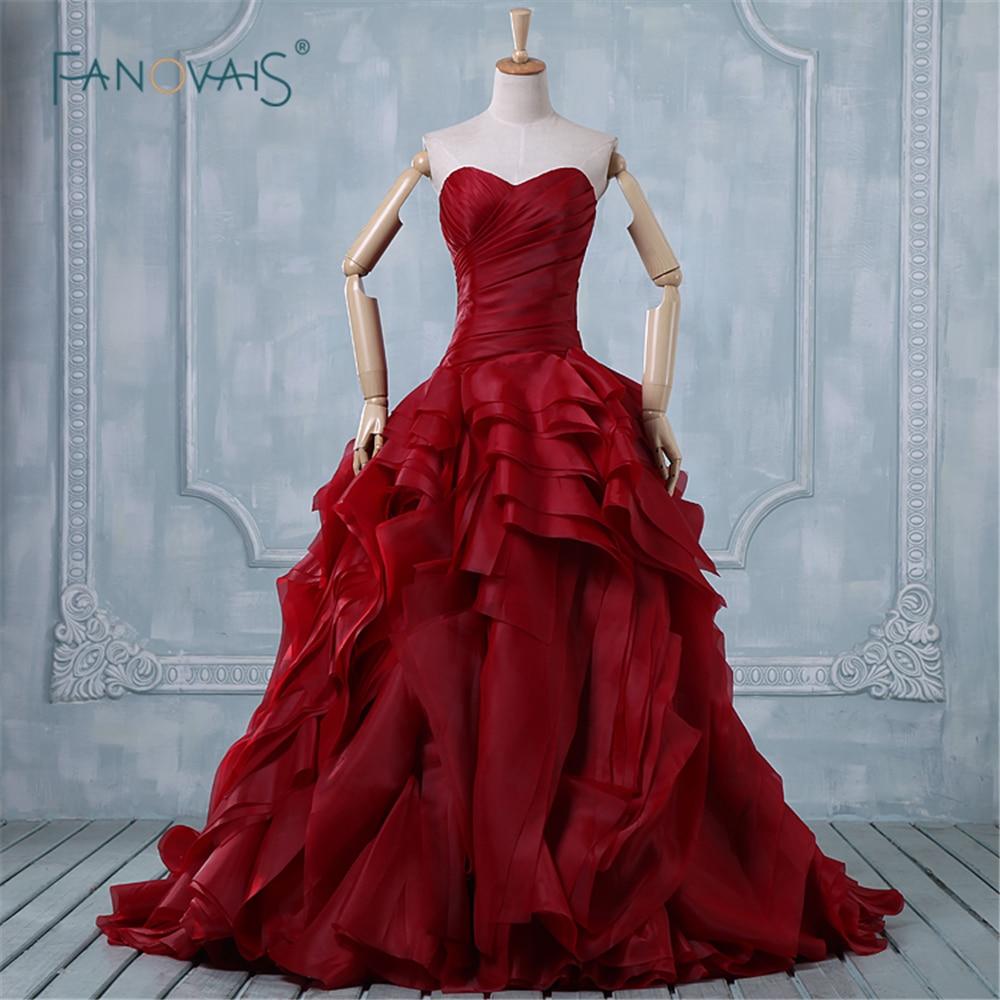 Red Ball Gown Wedding Dresses: Western Style Wedding Dress 2015 Hot Sale Sweet Angel