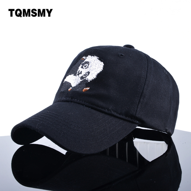 TQMSMY Embroidery panda Baseball Cap women s Snapback Caps men Soft  comfortable dad hat Hip Hop bone Unisex sun hats for men 2947c29e686