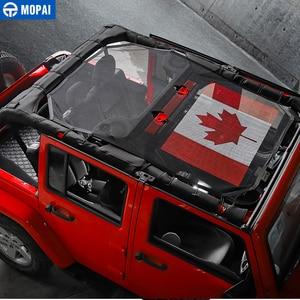 Image 4 - MOPAI 4 Porta Auto Tetto del Bikini Della Maglia Top Parasole Copertura UV Sun Ombra Maglia per Jeep Wrangler JK 2007 2017 Accessori auto Styling