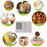 Four Channel Electronic Kitchen Timer Large LCD Tablet Kitchen Timer Multi Function Timer Free Shipping