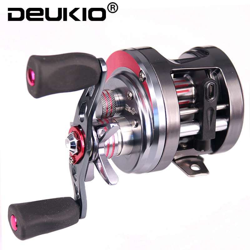 DEUKIO Carbon Fiber Drag 5.3:1 8BB Trolling Fishing Reel Magnetic Brake System Sea Fishing Reel Saltwater Baitcasting Reel Coil metal round jigging reel 6 1 bearing saltwater trolling drum reels right hand fishing sea coil baitcasting reel