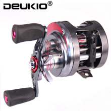 DEUKIO Carbon Fiber Drag 5.3:1 8BB Trolling Fishing Reel Magnetic Brake System Sea Fishing Reel Saltwater Baitcasting Reel Coil
