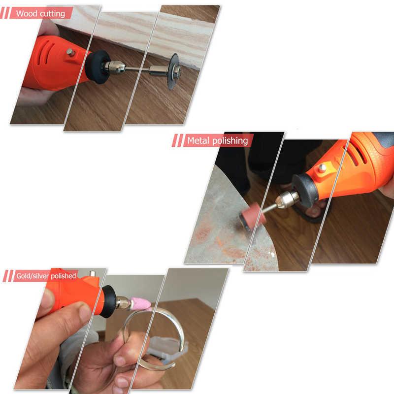 BDCAT 220V outils électriques Mini perceuse électrique avec mandrin universel 0.3-3.2mm et Kit d'outils rotatifs décortiqués pour Dremel 3000 4000