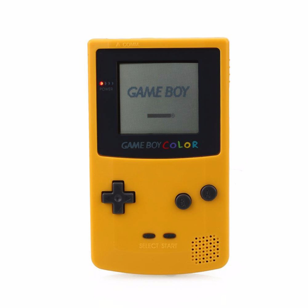 Co color by number games kids - Co Color Game Riddle Original New Arrival For Game Boy Color Clear Yellow Portable Handheld