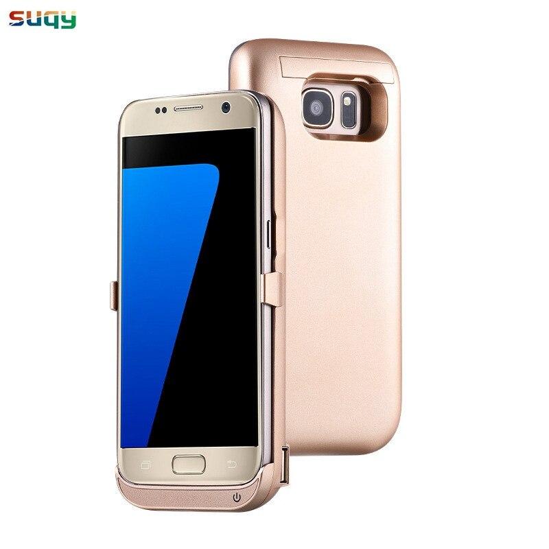 Suqy pour Samsung Galaxy s7 s7 bord Batterie Rechargeable Battrey Chargeur Cas pour Galaxy s7 s7edge Intelligent Accumulateur Cas 6500 mAh