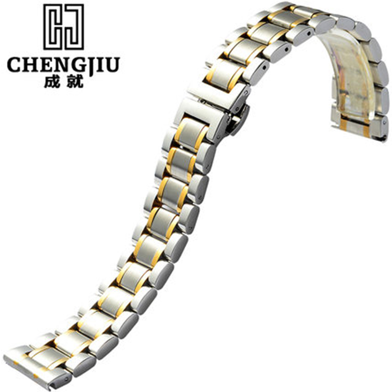 Watch Band For Longines Famous Craftsman Series Men Watches Strap Stainless Steel Metal Bracelets Belt Watchband 19 20 21 22mm new 16mm 20mm silver gold metal stainless steel watchband bands strap bracelets for brands watches men high quality accessories