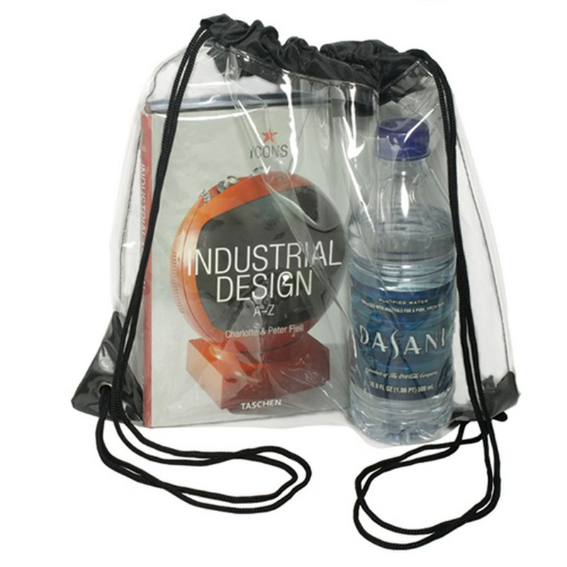 New New Transparent Drawstring Backpack Cinch Sack School Tote Gym Bag Sport Pack Digital Gear Bags Consumer Electronics