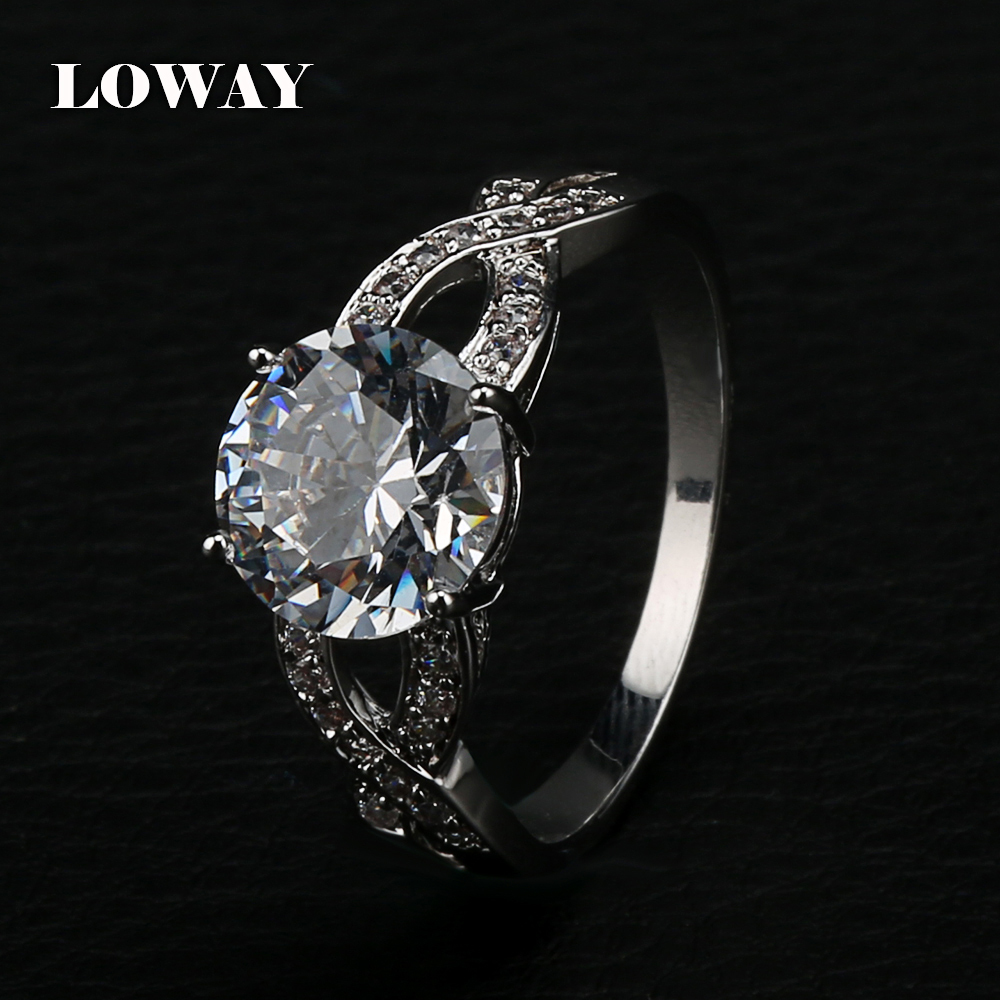 Loway Womens Braided Shank Pave Engagement Ring With 275 Carat Cubic  Zirconia 2015 Bridal Trendy Luxury