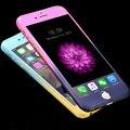 Gradiente de moda Capa Frontal Del Teléfono Volver Funda + Pantalla de Vidrio Templado protector para iphone 5 5s se 6 6 s plus 6 más xy1843