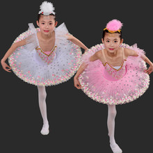Professional Ballet Tutu Dress Swan Lake White Pink Costumes Kids Clothes Children Girls for