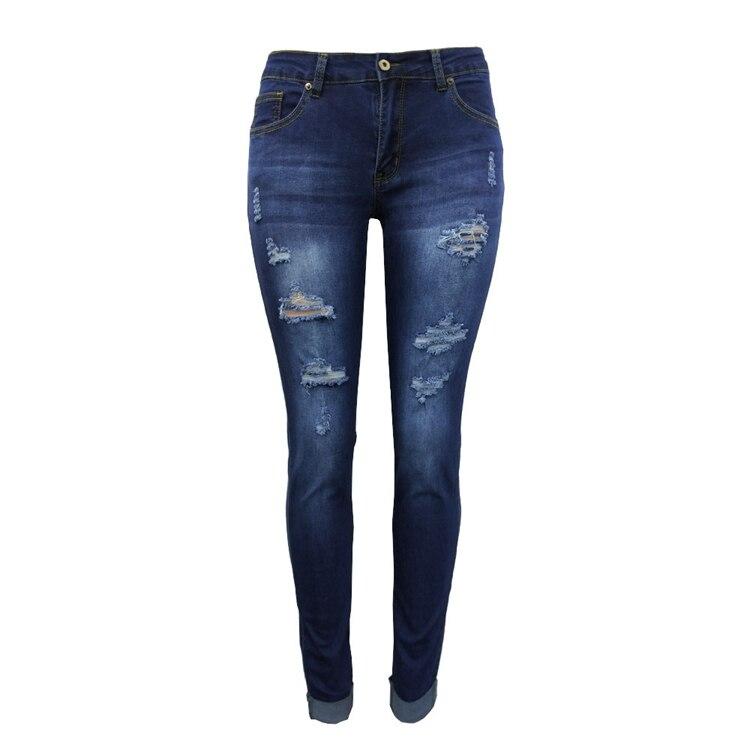 Women Jeans Pants Skinny Pearl Beaded Front Jeans Summer Spring Mid Waist Zipper Long Denim Casual Pants (15)