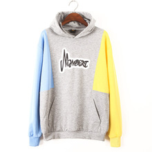 2019 New Winter Women Hooded Hoodies Sweatshirts Casual Long Sleeve Patchwork Letter Pullovers Tops Streetwear