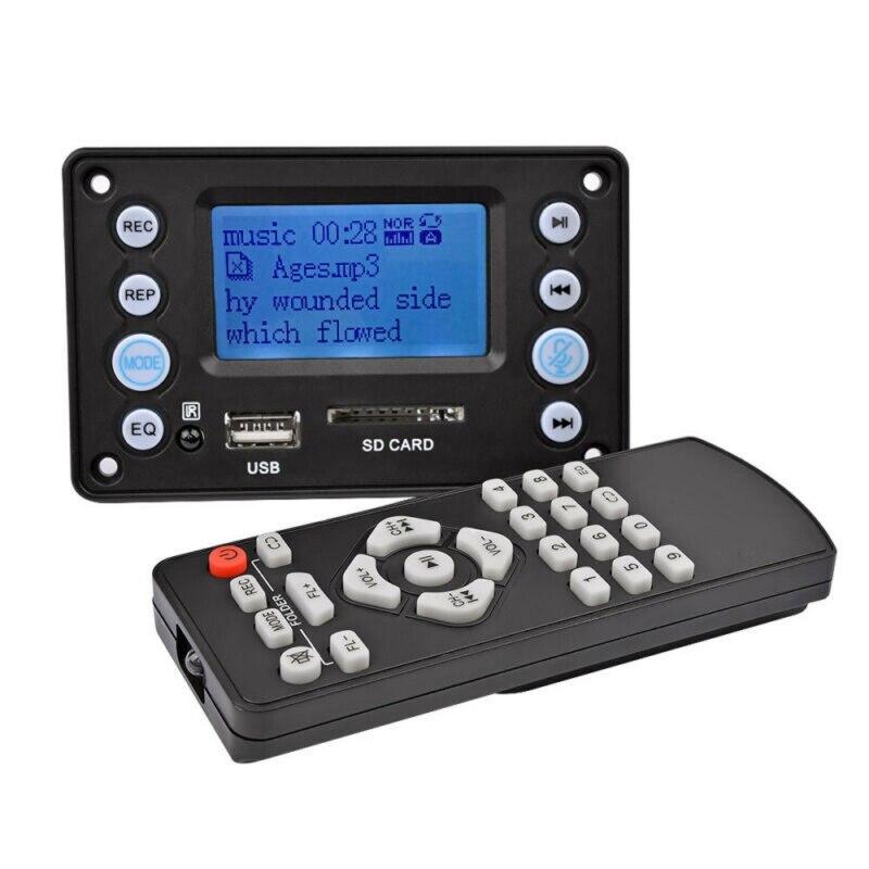 DC 5V 4.0 MIC Recording Port Bluetooth MP3 Decoder Board Audio Module USB SD WAV WMA APE FLAC FM With Remote Control