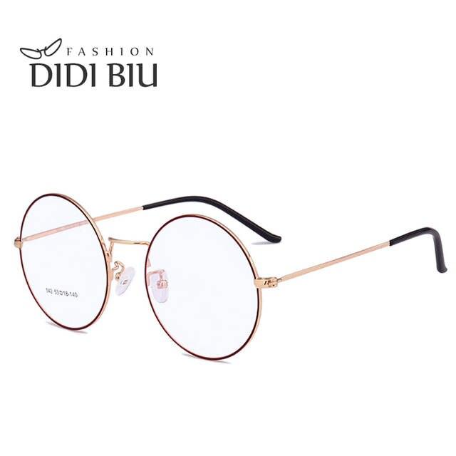 a650bcffda9e8 placeholder DIDI Os Amantes da Coréia Do Vintage Óculos Redondos Óculos de  Armação Mulher Homens Marca Armação