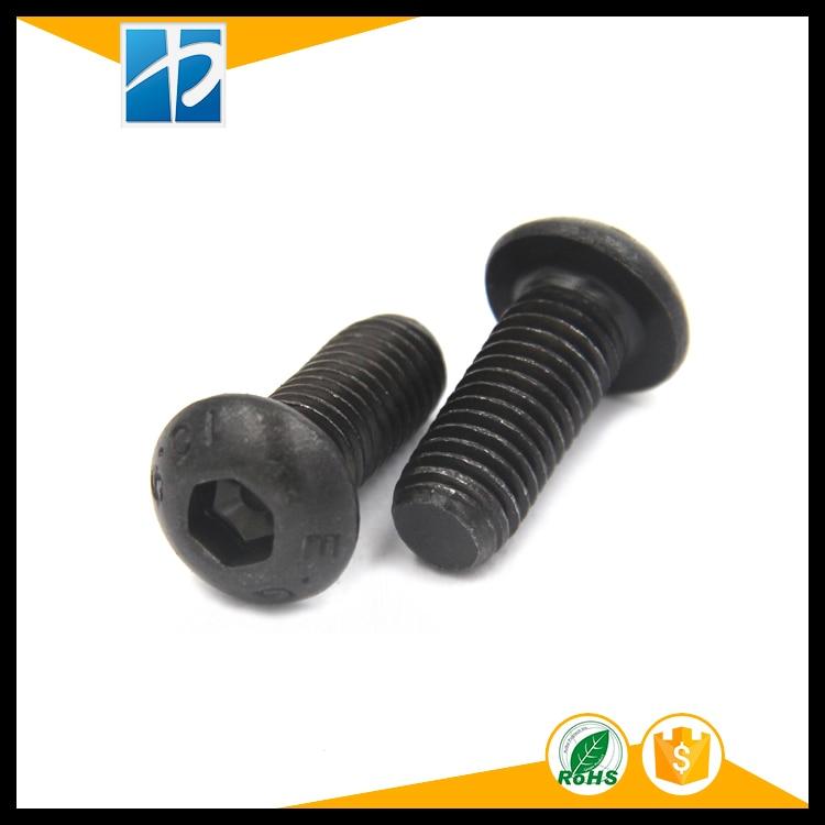 (10 pc/lot) M5,M6,M8 *L =8~50mm grade 10.9 class black oxide ISO7380 alloy steel button head hexagon socket screw кофеварка polaris pcm 1211 черный салатовый