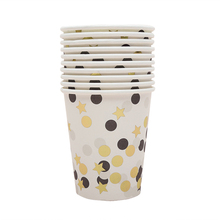 Colorful Confetti Disposable Paper Party Tableware Set