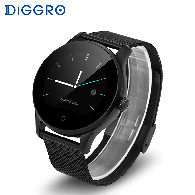 Diggrro K88H Smart Watch Heart Rate Monitor Pedometer Fitness Tracker Men Smartwatch Connected For Android IPhone PK DI02 DI03 diggro di03 plus bluetooth smart watch waterproof heart rate monitor pedometer sleep monitor for android & ios pk di02