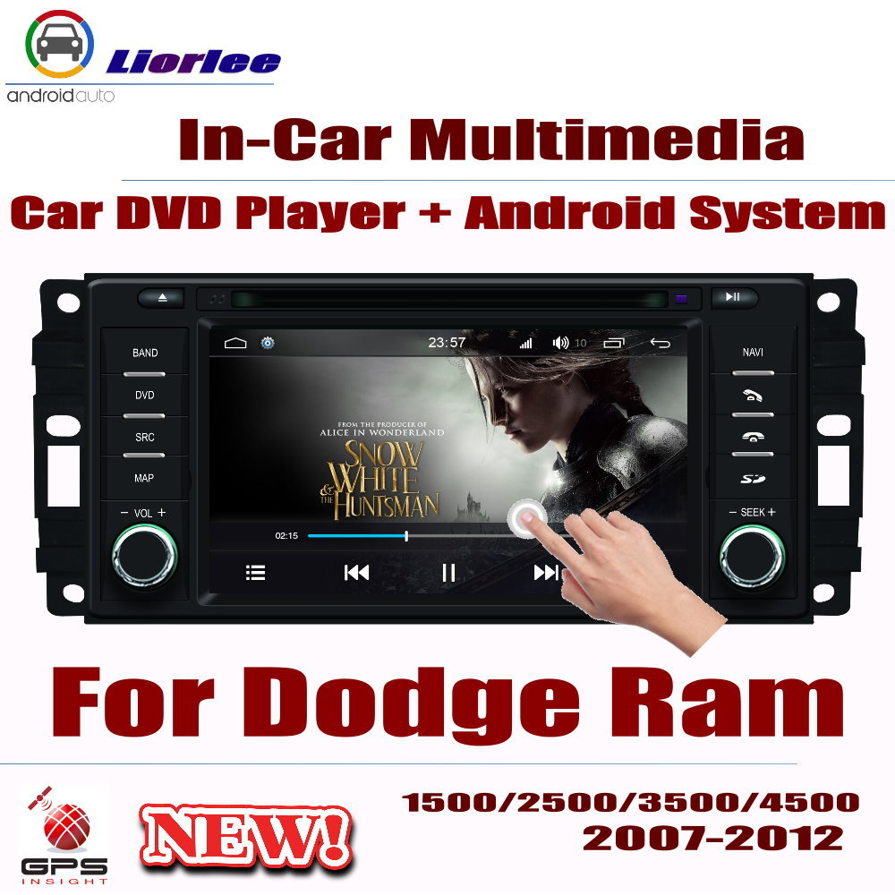 Car Radio DVD Player GPS Navigation For Dodge Ram 1500/2500/3500/4500 2007~2012 Android HD Displayer System Audio Video Stereo