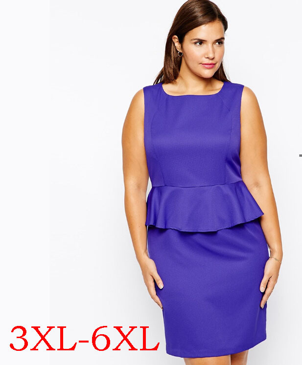 1327e2674557 Plus Size 6XL Bodycon Dresses Big Size Sexy Sheath Dress Large Size 5XL  Women Clothing Fat Women 4XL Full Figurevestido de festa