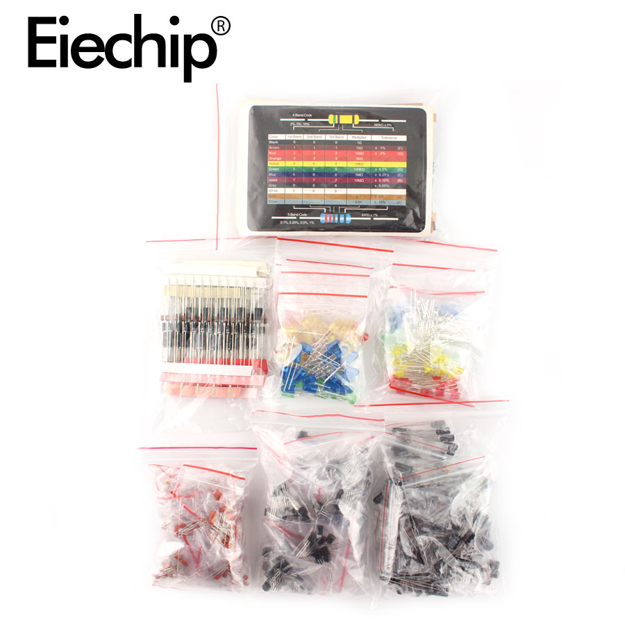 electrolytic capacitor Electrolytic Capacitor Ceramic kit Resistor led diodes set transistor Package diy assortment electronic components kits with box (4)