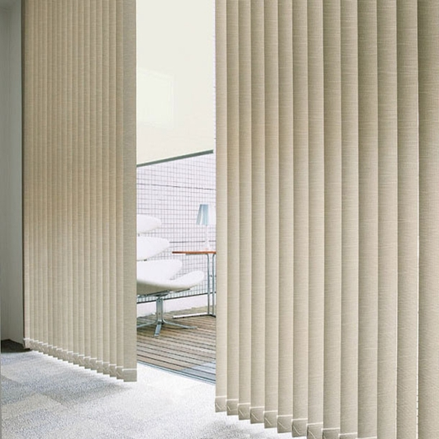 Vertical blinds office curtains French windows with blinds ...