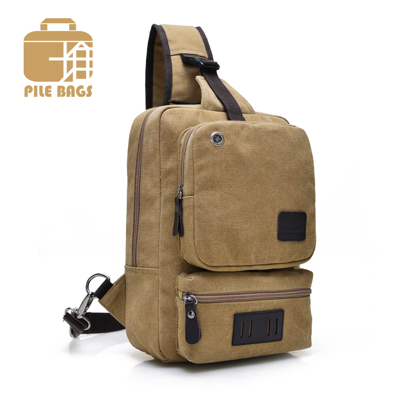 17f1e653382e Casual Men Chest Shoulder Bag Sling Messenger Crossbody Bags Canvas Chest  Bag Pack Vintage Strap Single