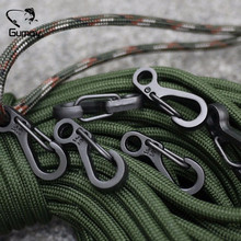 Gumay 10pcs Mini SF Spring Backpack Clasps Climbing Carabiners EDC Keychain Camping Bottle Hooks Paracord Tactical Survival Gear