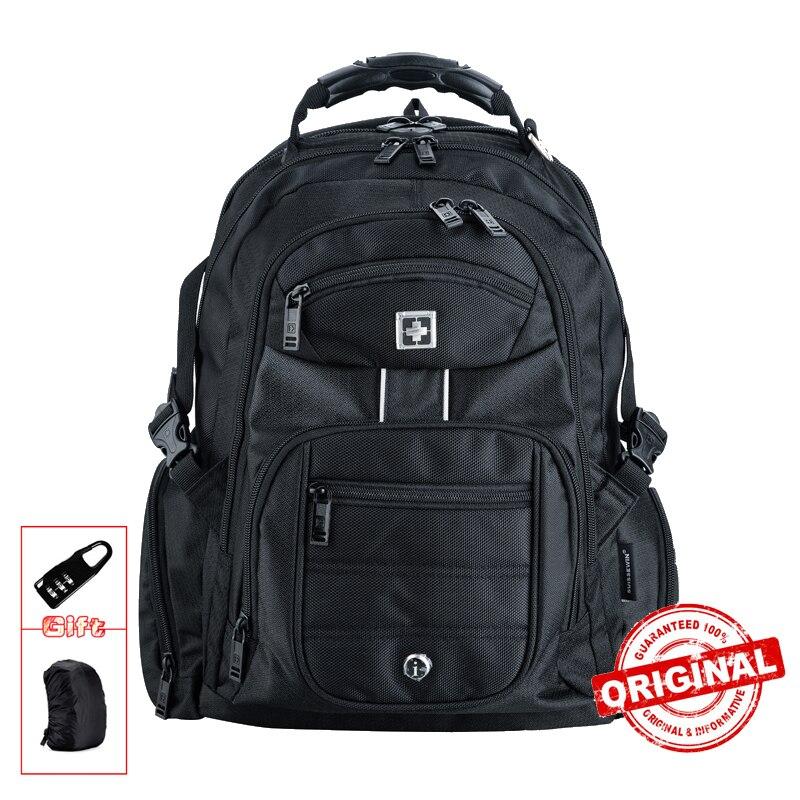 Sacs à dos imperméables noirs pour hommes 17 pouces sac à dos pour ordinateur portable sacs à dos pour ordinateur portable hommes et femmes résistant à l'eau sac à dos de voyage