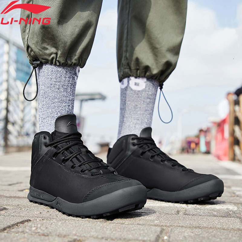 Li Ning Men TIGER II Outdoor Leisure Shoes Warm Fleece Anti slip LiNing Durable Sport Shoes