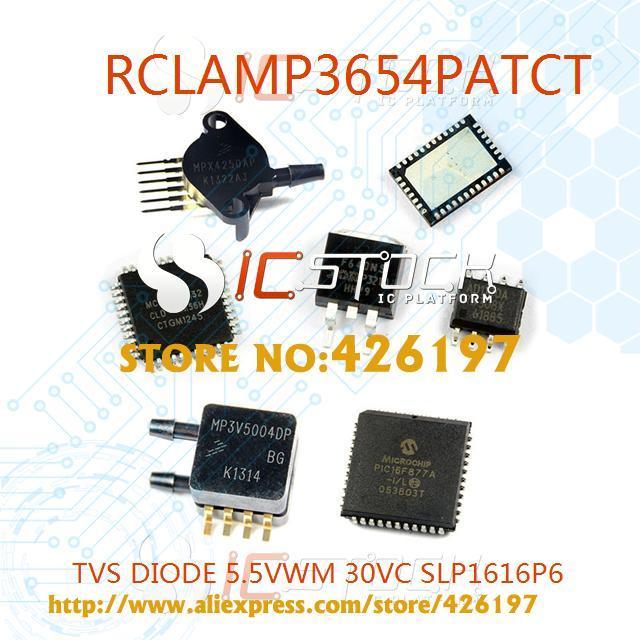 RCLAMP3654PATCT Pack of 10 TVS DIODE 5.5V 30V SLP1616P6